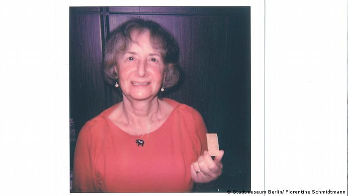 Ingrid Hesse with the train ticket she bought the day before the Berlin Wall went up