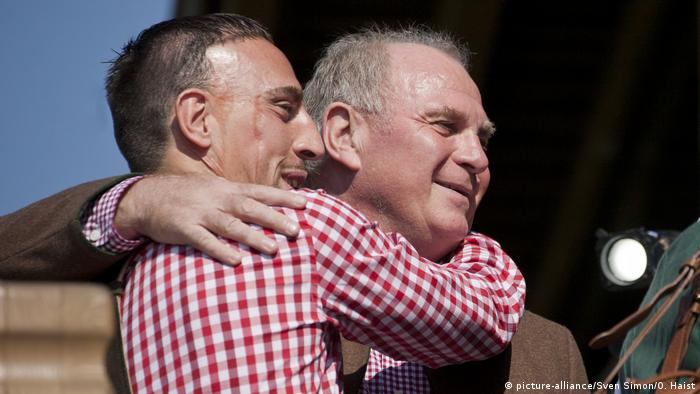 FC Bayern München Frank Ribéry & Uli Hoeneß