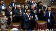 Griechenland Athen | Alexis Tsipras, Vertrauensfrage im Parlament