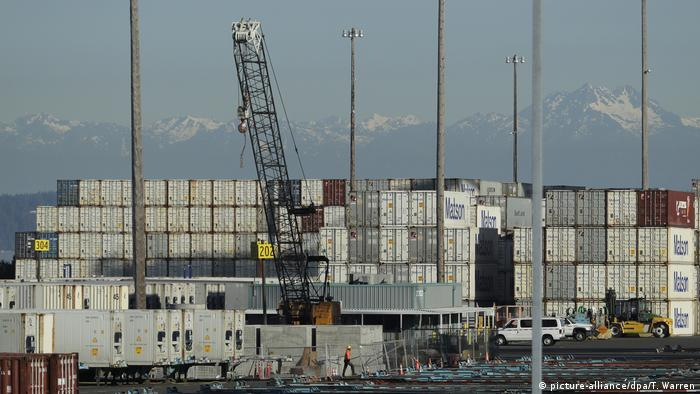 Goods from China entering the US at the port of Tacoma