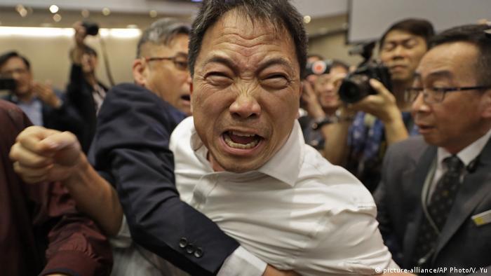 Scuffles in Hong Kong's Legislative Council