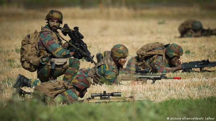 Belgien Militärübung in Florennes