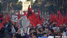 Albanien Proteste Opposition in Tirana Fotograf: DW Korrespondentin Ani Ruci