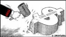 Karikatur von Vladdo, Handelsdiplomatie Karikatur von Vladdo, Handelsdiplomatie
