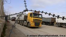 Israel Kerem Schalom Grenzübergang Gazastreifen