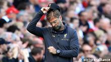 Liverpool v Wolverhampton Wanderers - Premier League - Anfield. Liverpool manager Jurgen Klopp appears dejected during the Premier League match at Anfield, Liverpool. Picture date: Sunday May 12, 2019. See PA story SOCCER Liverpool. Photo credit should read: Peter Byrne/PA Wire. RESTRICTIONS: EDITORIAL USE ONLY No use with unauthorised audio, video, data, fixture lists, club/league logos or live services. Online in-match use limited to 120 images, no video emulation. No use in betting, games or single club/league/player publications. URN:42822396 |