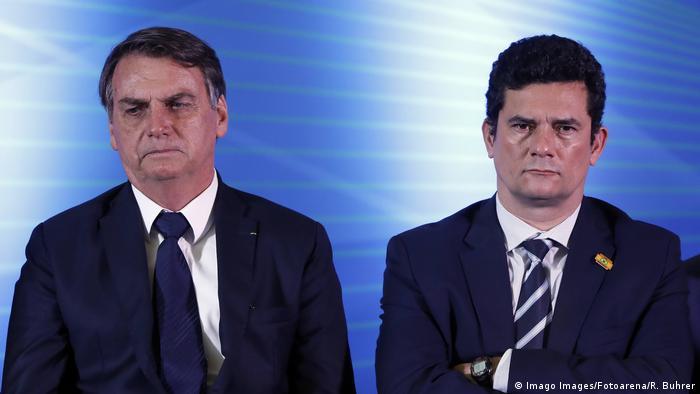 Brasilien Präsident Jair Bolsonaro und Justizminister Sergio Moro
