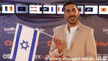 12.05.2019 Kobi Marimi of Israel poses during a presentation of the 2019 Eurovision Song Contest participants in Tel Aviv, Israel, Sunday, May 12, 2019.(AP Photo/Ariel Schalit) |