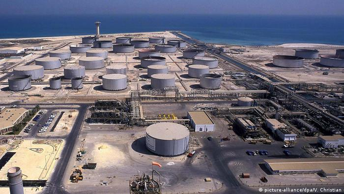 An oil refinery in the port of Ras Tanura in Saudi Arabia