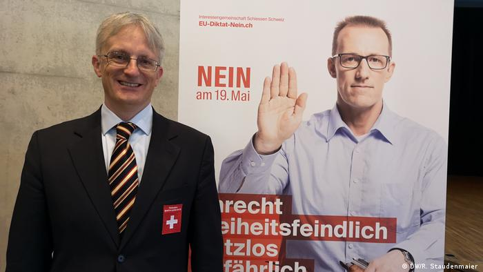 SSV president Luca Filippini at a delegate's assembly in Winterthur, Switzerland