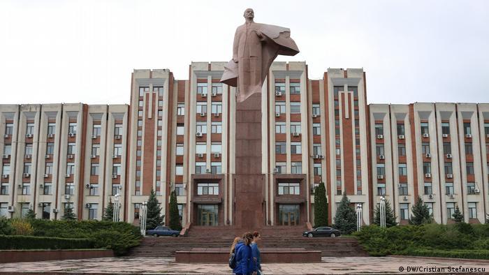 Spomenik Lenjinu ispred parlamenta Pridnjestrovlja