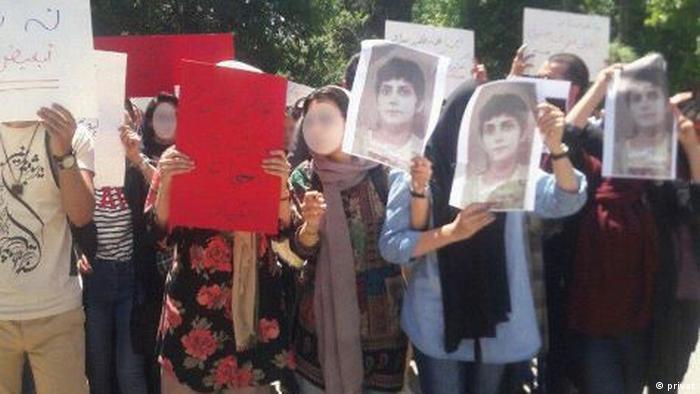 Iran Protest gegen Kopftuch-Pflicht an der Universität Teheran (privat)