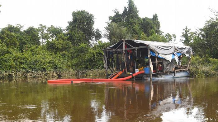 Garimpeiros seguem ativos nos rios que bordeiam a terra Apyterewa