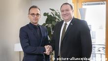 Brüssel Treffen EU-Außenminister Maas mit Pompeo