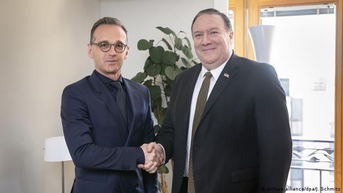 دیدار هایکو ماس، وزیر امور خارجه آلمان با مایک پمپئو، همتای آمریکاییاش، ۱۳ مه ۲۰۱۹، بروکسل