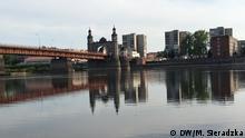 Litauen Blick auf Kaliningrad über die Memel