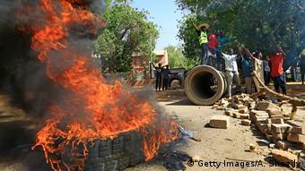 Sudanesische Demonstranten in Khartum Sudanesische Demonstranten in Khartum