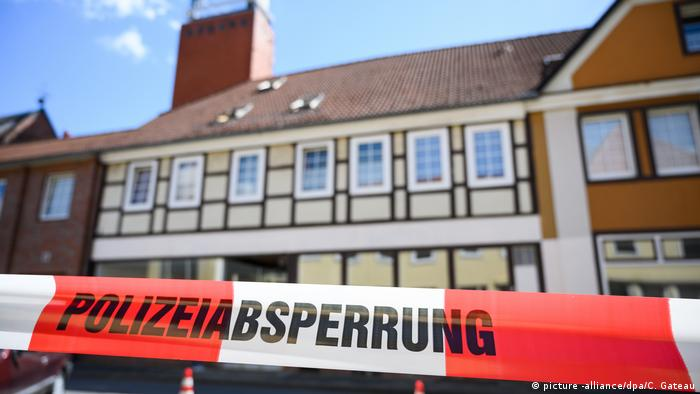 A house in Wittingen is blocked off with police tape
