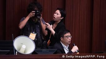 China, Hong Kong: Gesetzgebersitzung zum Auslieferungsgesetz