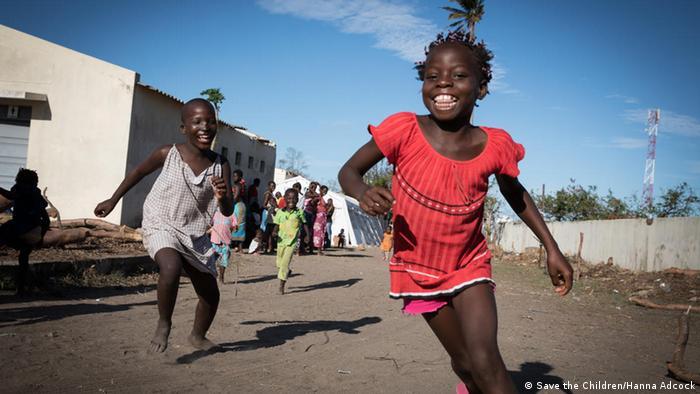 Save the Children - Mosambik Notunterkunft nach Zyklon Idai (Save the Children/Hanna Adcock)