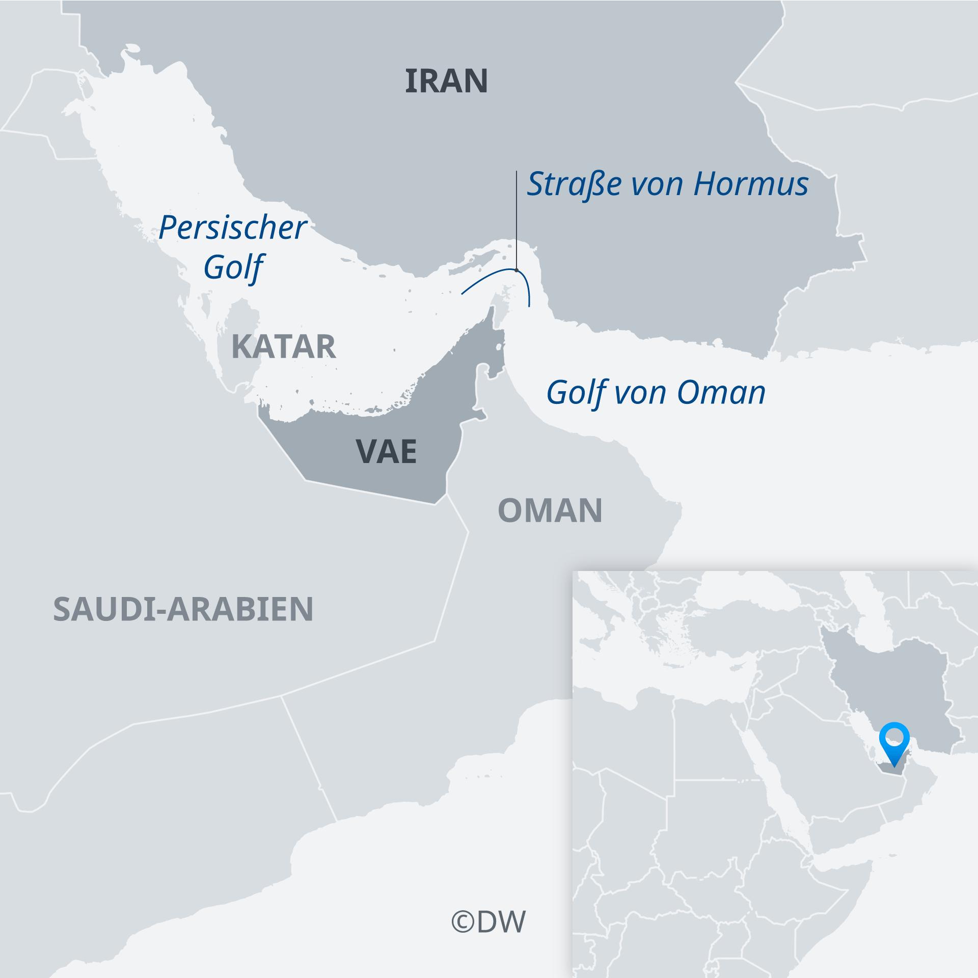 Karte der Straße von Hormus