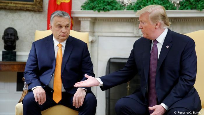 USA Ungarn Orban bei Trump im Weißen Haus (Reuters/C. Barria )