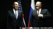 Russland Minister Lavrov and US Secretary of State Pompeo