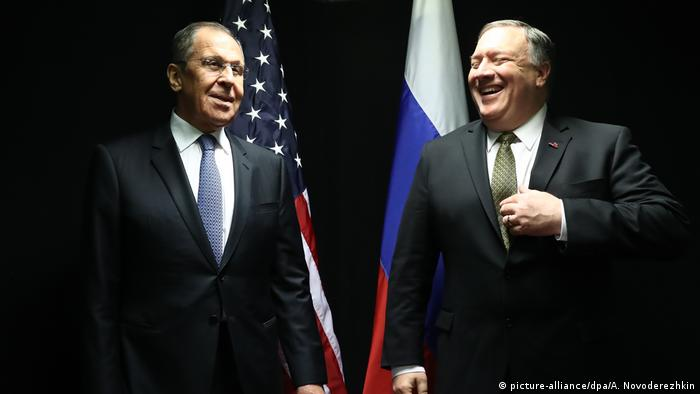 Russian Foreign Minister Sergei Lavrov and US Secretary of State Pompeo