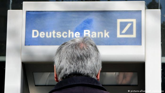 A Deutsche Bank cash machine