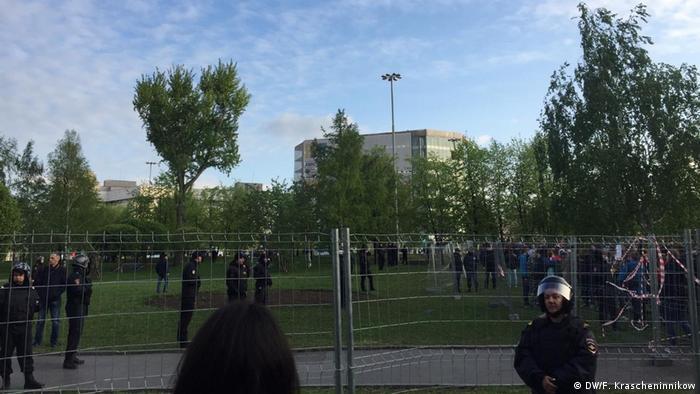 Протесты против строительства церкви на месте сквера в Екатеринбурге