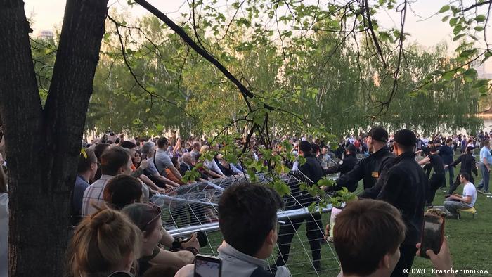 Акция протеста против строительства храма на месте сквера в Екатеринбурге, 14 мая
