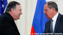Russland Sotschi | Treffen Mike Pompeo, Außenminister USA & Sergej Lawrow