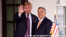 USA President Donald Trump trifft ungarischen Premierminister Viktor Orban in Washington