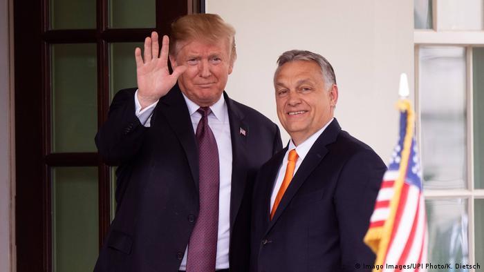El presidente de EE. UU., Donald Trump, y el primer ministro húngaro, Viktor Orban.