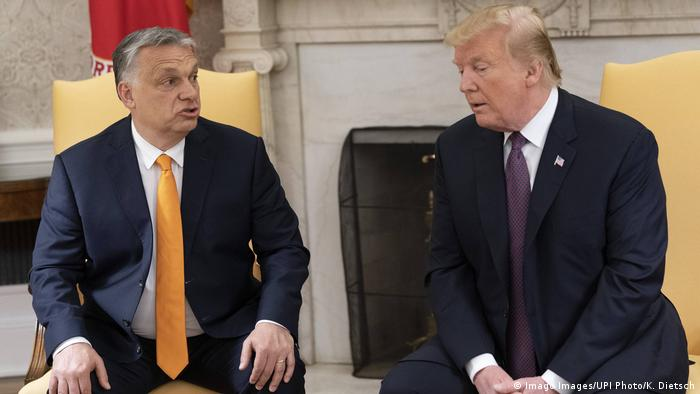 Donald Trump recebeu Viktor Orban na Casa Branca