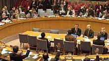 Der UN Sicherheitsrat erläßt eine Resolution über den Nahen Osten, New York