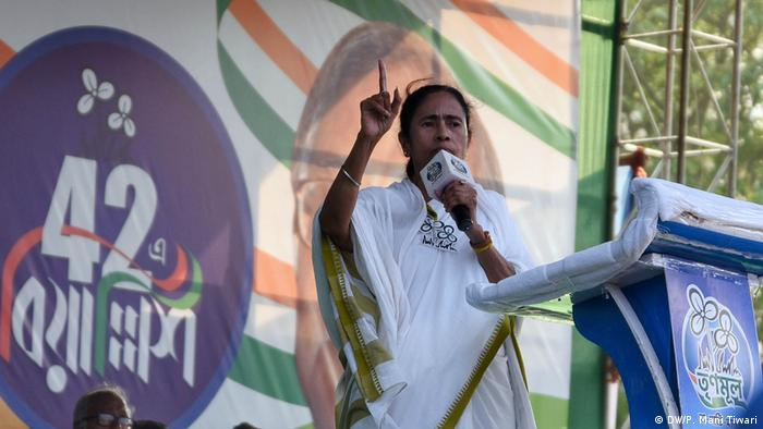 Indien Kalkutta Wahlkampf   Mamta Banerjee (DW/P. Mani Tiwari)