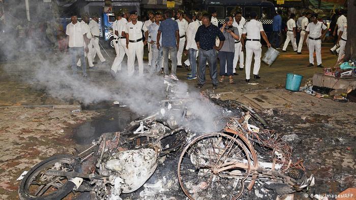 Indien Kalkutta Wahlkampf Zusammenstöße Diverser Anhänger