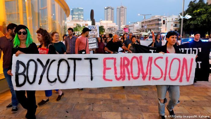 Eurovision Song Contest 2019 | Protest in Tel Aviv (AFP/Getty Images/M. Kahana)
