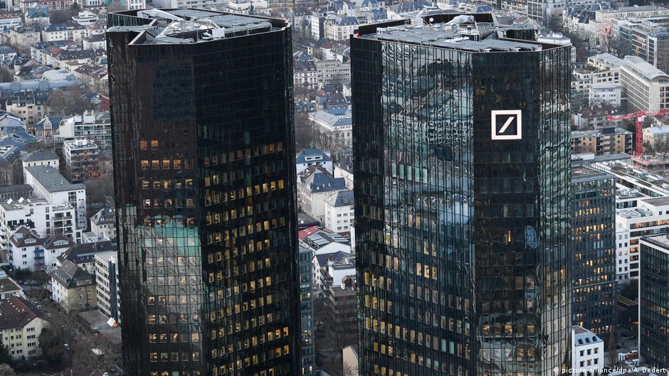 法蘭克福德意志銀行總部資料圖片