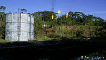 Yasuni Projekt Ecuador Öl Zwischenlager
