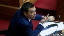 Griechenland Parlament Vertrauensfrage Alexis Tsipras (picture-alliance/ANE)