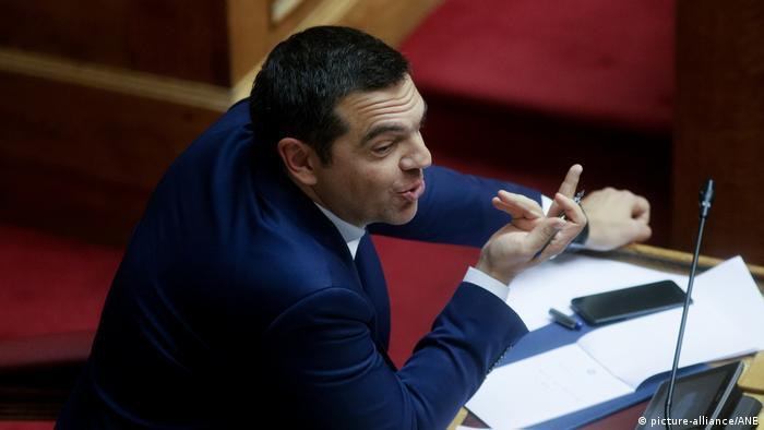 Alexis Tsipras im Parlament (Archivbild)
