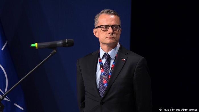 Poland's ambassador to Israel, Marek Magierowski, pictured in 2016, when he was a spokesman for the Polish presidency. (imago images/Zumapress)