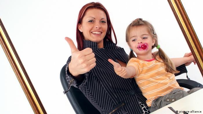 Karrierefrau und Mutter