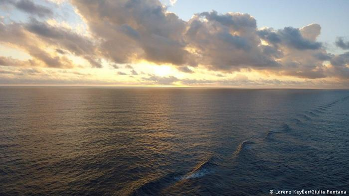 View from a freighter between China and Australia, en route from Europe on a no-fly adventure