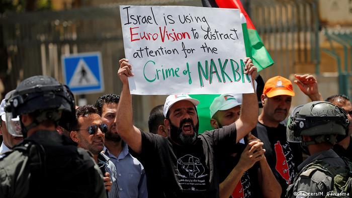 Palestinians demonstrate