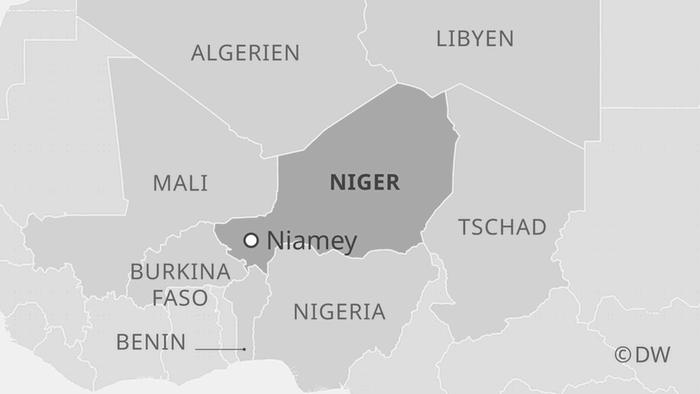 Infografik Karte Niger DE