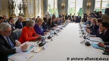 Frankreich Paris | Emmanuel Macron, Präsident & Jacinda Arden, Premierministerin Neuseeland
