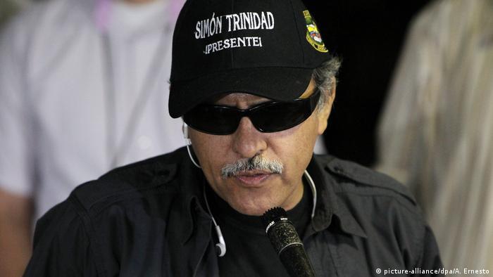 FARC - Jesús Santrich (picture-alliance/dpa/A. Ernesto)